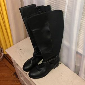 Torrid Faux Black Leather Boots